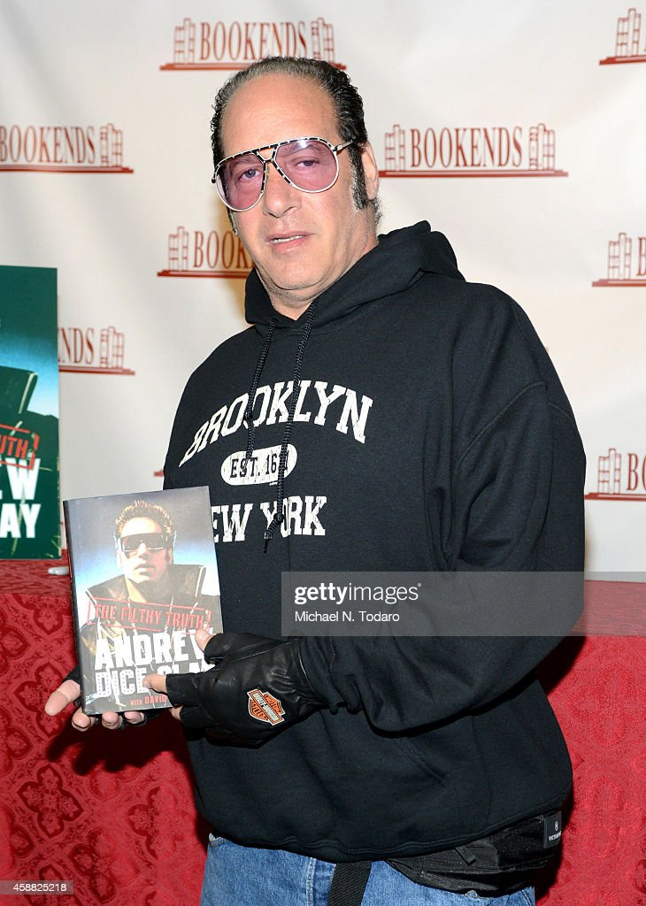 Andrew Dice Clay Signs Copies Of His Book 'The Filthy Truth' at Bookends Bookstore on November 11, 2014 in Ridgewood, New Jersey.