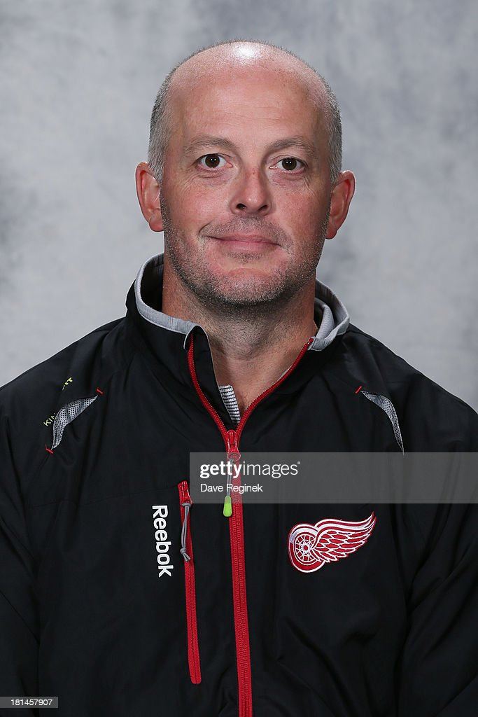 Andrew Dickson of the Detroit Red Wings poses for his official headshot for the 2013-2014 season at Centre Ice Arena on September 11, 2013 in Traverse City, Michigan.
