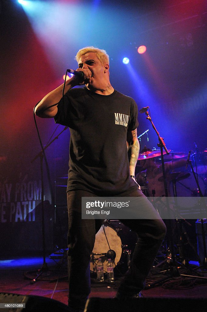 Andrew Dijorio of Stray from the Path performs on stage at KOKO on March 14, 2014 in London, United Kingdom.