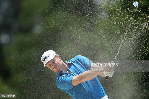 Andrew Dodt of Australia plays his second shot during day four of the 2016 Australian PGA Championship at RACV Royal Pines Resort on December 4 2016...