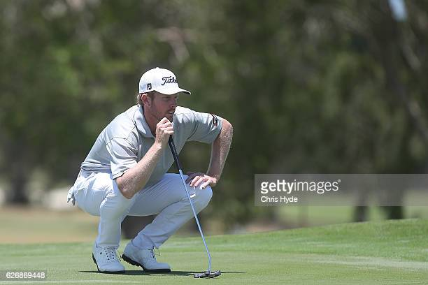 Andrew Dodt of Australia prepares to putt during day one of the 2016 Australian PGA Championship at RACV Royal Pines Resort on December 1 2016 in...