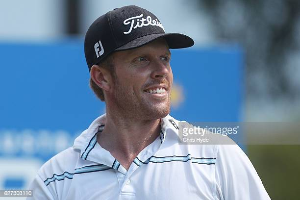 Andrew Dodt of Australia smiles during day three of the Australian PGA Championships at RACV Royal Pines Resort on December 3 2016 in Gold Coast...