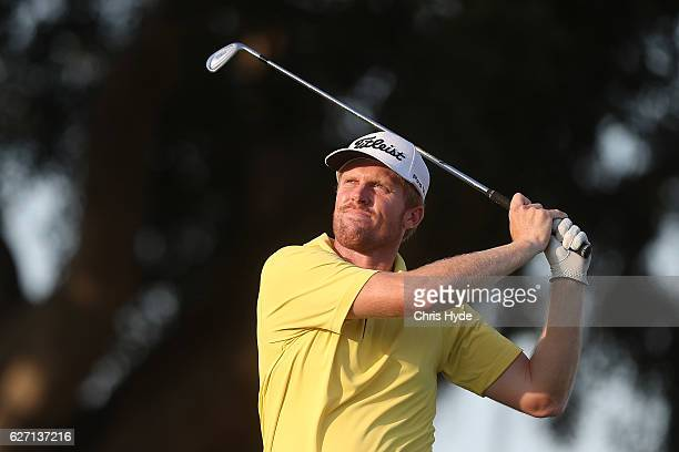 Andrew Dodt of Australia tees off during day two of the 2016 Australian PGA Championship at RACV Royal Pines Resort on December 2 2016 in Gold Coast...