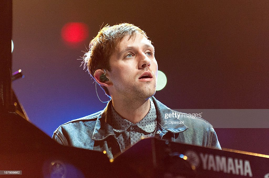 Andrew Dost of Fun. performs during Z100's Jingle Ball 2012 presented by Aeropostale at Madison Square Garden on December 7, 2012 in New York City.