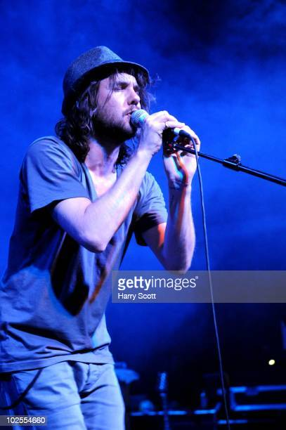 Andrew Drew of Broken Social Scene performs on stage at The Forum on June 30 2010 in London England