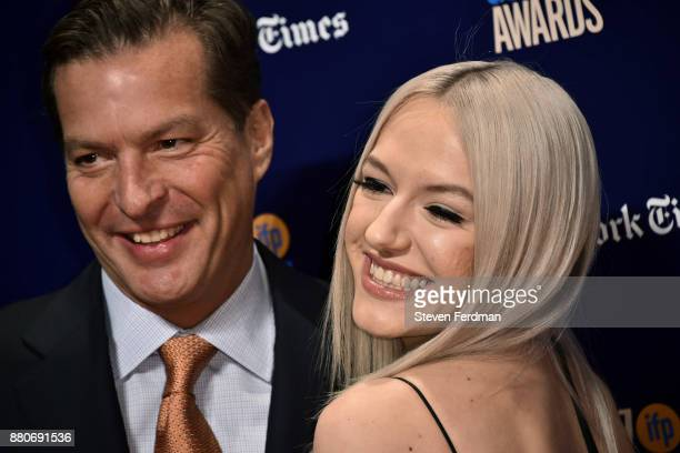 Andrew Duncan and Bria Vinaite attend IFP's 27th Annual Gotham Independent Film Awards at Cipriani Wall Street on November 27 2017 in New York City