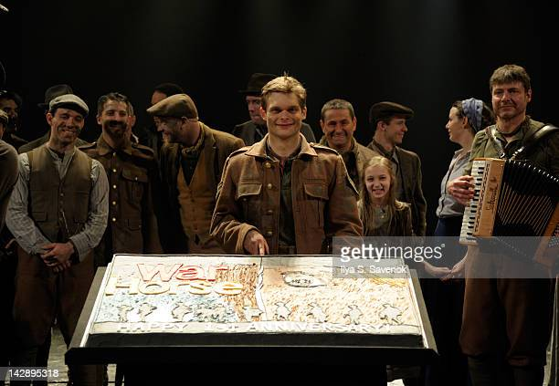 Andrew Durand attends the 'War Horse' first year anniversary cake cutting ceremony at theVivian Beaumont Theatre at Lincoln Center on April 14 2012...
