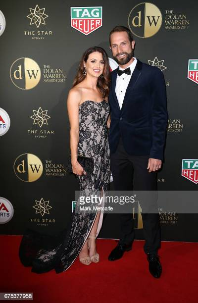 Andrew Durante and Sarah Durante arrive ahead of the FFA Dolan Warren Awards at The Star on May 1 2017 in Sydney Australia