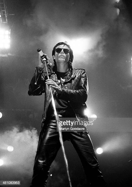 Andrew Eldritch of the Sisters of Mercy performs on stage at Wembley Arena London United Kingdom 26th November 1990