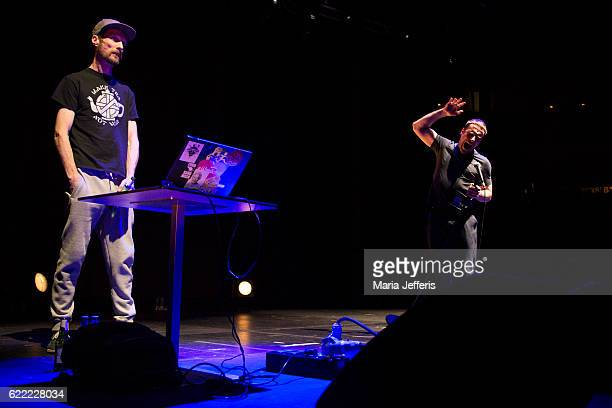 Andrew Fearn and Jason Williamson of Sleaford Mods perform at The Roundhouse on November 10 2016 in London England