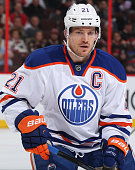 Andrew Ference of the Edmonton Oilers skates against the Ottawa Senators at Canadian Tire Centre on February 14 2015 in Ottawa Ontario Canada