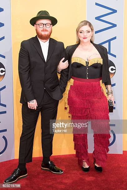 Andrew Fergie Ferguson and singersongwriter Elle King attend the 50th annual CMA Awards at the Bridgestone Arena on November 2 2016 in Nashville...
