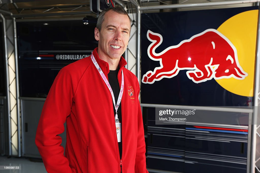 Andrew Feustel, Geophysicist and NASA astronaut is seen in the Red Bull Racing garage following qualifying for the United States Formula One Grand Prix at the Circuit of the Americas on November 17, 2012 in Austin, Texas.