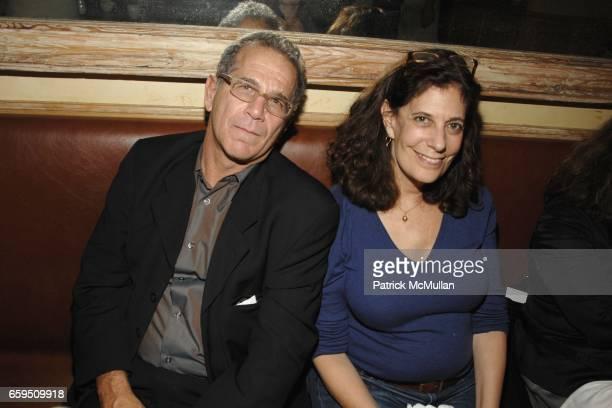 Andrew Fierberg and Betsy Sussler attend CLIFFORD ROSS postopening dinner at Morandi Restaurant on October 24 2009 in New York City