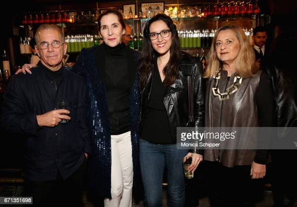Andrew fierberg Laurie Simmonds Caroline Habib and Giuliana Bruno attend the Filmmaker Welcome Party at The Bowery Hotel on April 21 2017 in New York...
