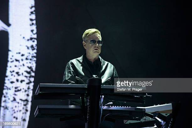 Andrew Fletcher of Depeche Mode performs on stage at Olympiastadion on June 1 2013 in Munich Germany