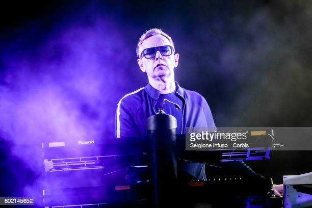 Andrew Fletcher of English electronic band Depeche Mode performs on stage at Stadio San Siro on June 27 2017 in Milan Italy