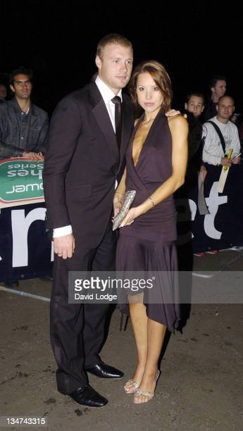 Andrew Flintoff and Rachel Flintoff during 2005 Professional Cricketers' Association Awards Dinner Arrivals at Royal Albert Hall London SW7 in London...