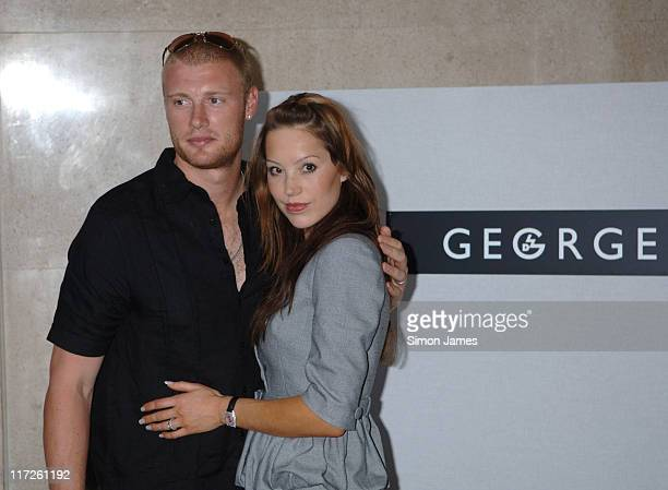 Andrew Flintoff and Rachel Flintoff during ASDA's Must Have Range – Launch at Victoria Square in London Great Britain