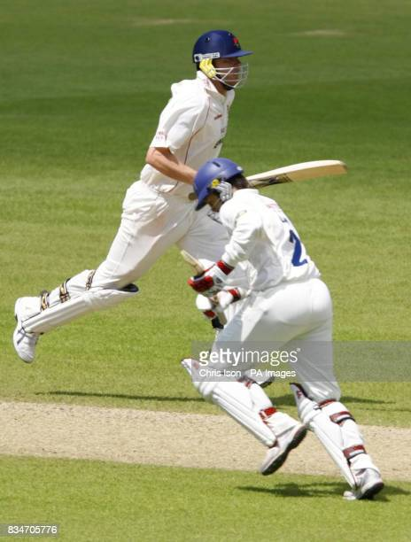 Andrew Flintoff in action during the Liverpool Victoria County Championship match at the Rose Bowl Southampton