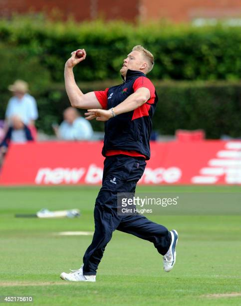 Andrew Flintoff of Lancashire does some bowling practice during day three of the LV County Championship Division One match between Lancashire and...