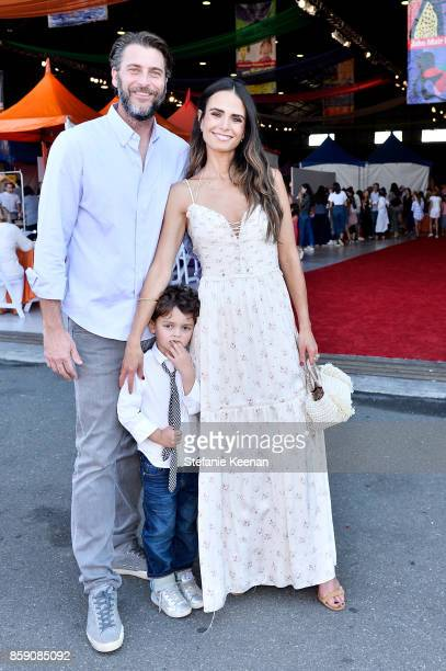 Andrew Form and Jordana Brewster at PS ARTS' Express Yourself 2017 at Barker Hangar on October 8 2017 in Santa Monica California