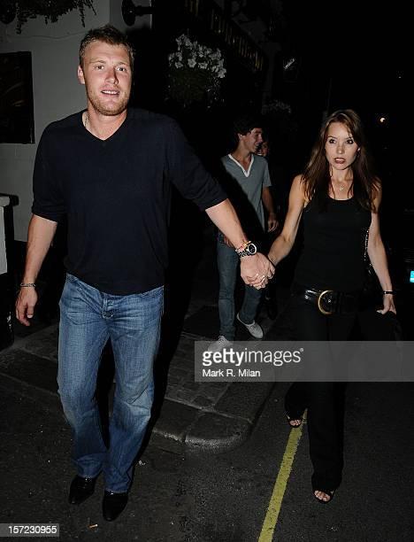 Andrew 'Freddie' Flintoff and Rachael Flintoff are seen on July 20 2009 in London England