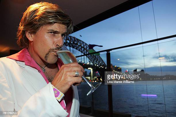 Andrew G attends the Movember Gala night at Luna Park on November 28 2007 in Sydney Australia Movember is an annual charity challenge of growing a...