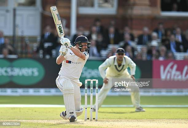 Andrew Gale of Yorkshire bats during day four of the Specsavers County Championship match between Middlesex and Yorkshire at Lords on September 23...