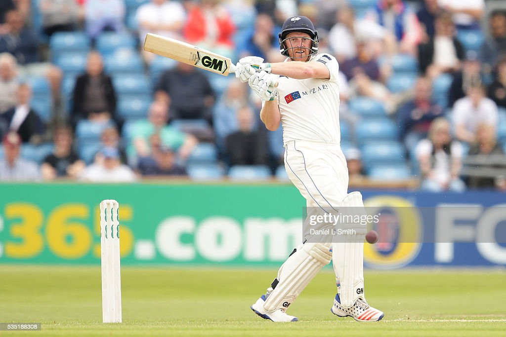Andrew Gale of Yorkshire bats during day one of the Specsavers County Championship: Division One match between Yorkshire and Lancashire at Headingley on May 29, 2016 in Leeds, England.