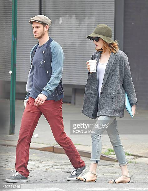 Andrew Garfield and Emma Stone are seen on May 21 2014 in New York City