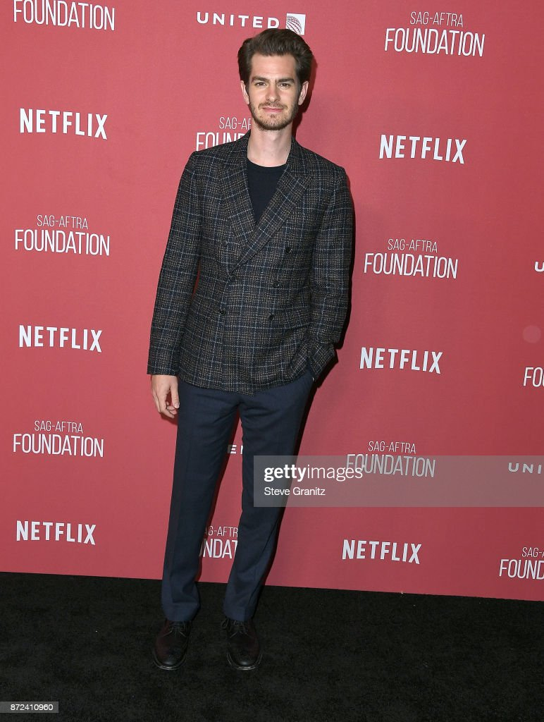 Andrew Garfield arrives at the SAG-AFTRA Foundation Patron of the Artists Awards 2017 on November 9, 2017 in Beverly Hills, California.