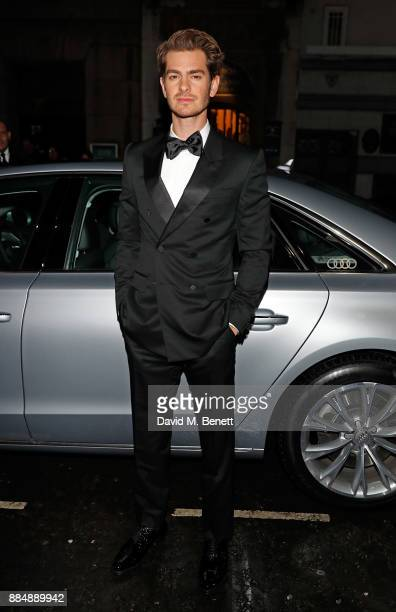 Andrew Garfield arrives in an Audi at the Evening Standard Theatre Awards at Theatre Royal on December 3 2017 in London England