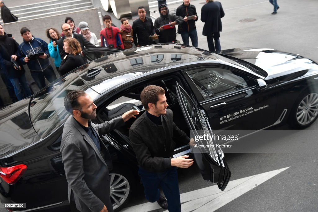 Andrew Garfield arrives prior the 'Breathe' press conference during the 13th Zurich Film Festival on October 6, 2017 in Zurich, Switzerland. The Zurich Film Festival 2017 will take place from September 28 until October 8.