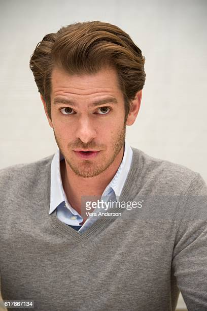 Andrew Garfield at the 'Hacksaw Ridge' Press Conference at the Four Seasons Hotel on October 22 2016 in Beverly Hills California