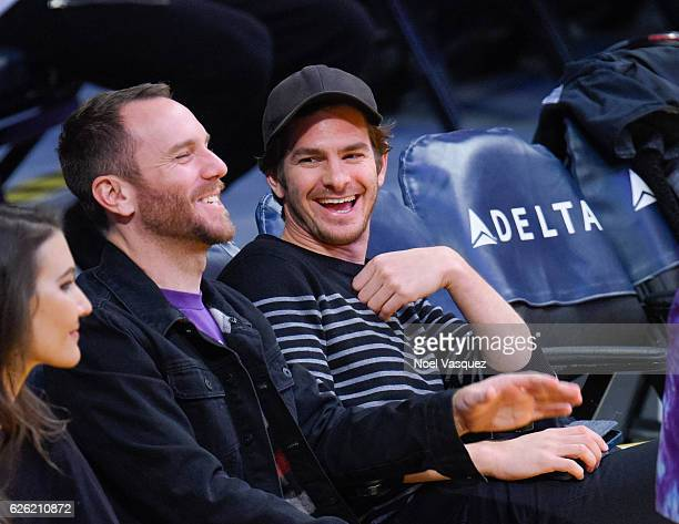 Andrew Garfield attends a basketball game between the Atlanta Hawks and the Los Angeles Lakers at Staples Center on November 27 2016 in Los Angeles...