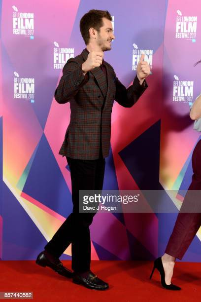 Andrew Garfield attends a photocall for 'Breathe' during the 61st BFI London Film Festival on October 4 2017 in London England