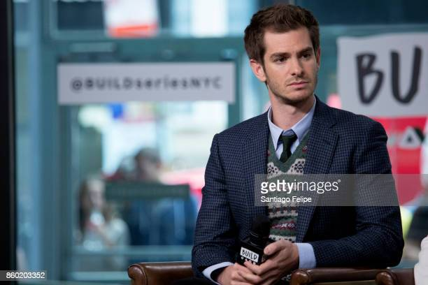 Andrew Garfield attends Build Presents to dicsuss the film 'Breathe' at Build Studio on October 11 2017 in New York City