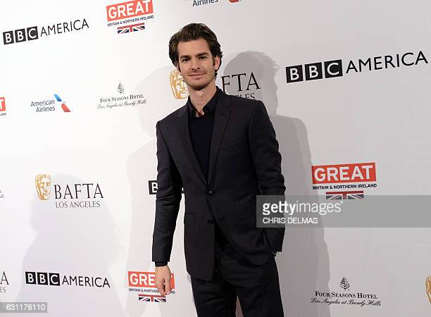 Andrew Garfield attends the BAFTA Los Angeles Tea Party at the Four Seasons hotel in Beverly Hills on January 7 2017 / AFP / CHRIS DELMAS