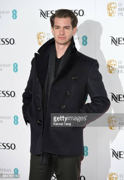 Andrew Garfield attends the BAFTA nominees party at Kensington Palace on February 11 2017 in London United Kingdom