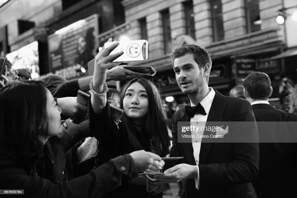 Andrew Garfield attends the European Premiere of 'Breathe' on the opening night gala of the 61st BFI London Film Festival on October 4, 2017 in London, England.