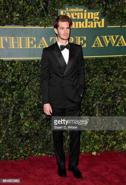 Andrew Garfield attends the London Evening Standard Theatre Awards at the Theatre Royal on December 3 2017 in London England