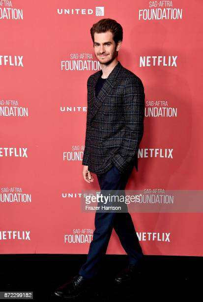Andrew Garfield attends the SAGAFTRA Foundation Patron of the Artists Awards 2017 at the Wallis Annenberg Center for the Performing Arts on November...