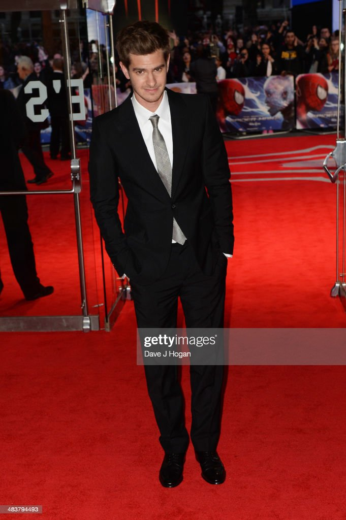 <a gi-track='captionPersonalityLinkClicked' href=/galleries/search?phrase=Andrew+Garfield&family=editorial&specificpeople=4047840 ng-click='$event.stopPropagation()'>Andrew Garfield</a> attends the world premiere of 'The Amazing Spider-Man 2' at The Odeon Leicester Square on April 10, 2014 in London, England.