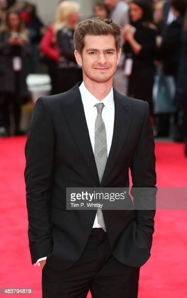 Andrew Garfield attends the World Premiere of 'The Amazing SpiderMan 2' at Odeon Leicester Square on April 10 2014 in London England