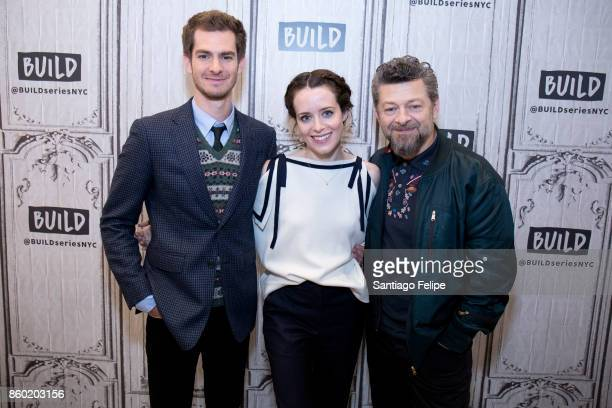 Andrew Garfield Claire Foy and Andy Serkis attend Build Presents to discuss the film 'Breathe' at Build Studio on October 11 2017 in New York City
