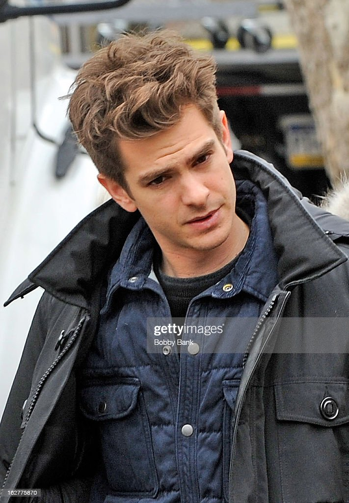 <a gi-track='captionPersonalityLinkClicked' href=/galleries/search?phrase=Andrew+Garfield&family=editorial&specificpeople=4047840 ng-click='$event.stopPropagation()'>Andrew Garfield</a> filming on location for 'The Amazing Spiderman 2' on February 26, 2013 in the Brooklyn borough of New York City.