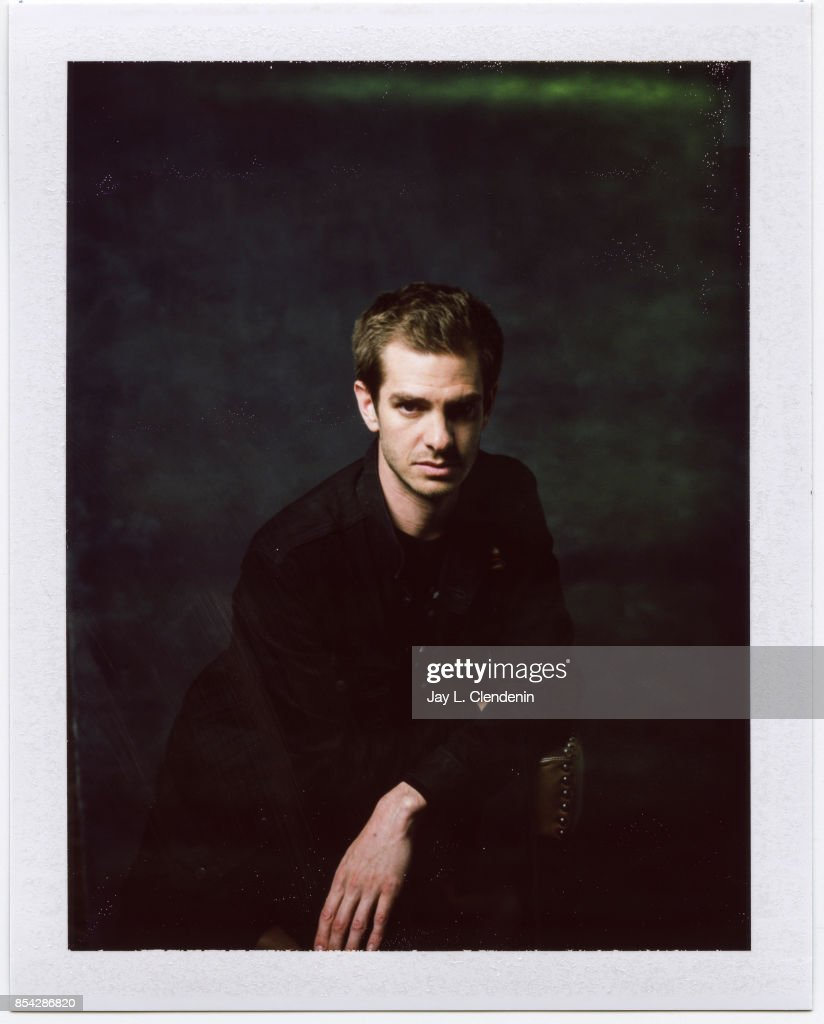 Andrew Garfield, from the film, 'Breathe,' is photographed on polaroid film at the L.A. Times HQ at the 42nd Toronto International Film Festival, in Toronto, Ontario, Canada, on September 12, 2017.