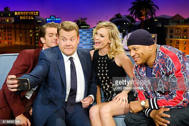 Andrew Garfield January Jones and LL Cool J chat with James Corden during 'The Late Late Show with James Corden' Thursday October 27 2016 On The CBS...
