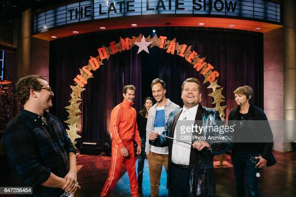 Andrew Garfield performs for Hidden Talents during 'The Late Late Show with James Corden' Tuesday February 28 2017 On The CBS Television Network